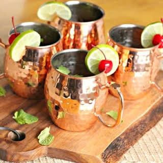 Spring Moscow Mule Cocktails.