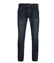 Photo: Shanta Cigarette Jeans>>  UK>http://bit.ly/Or1D6p US>http://bit.ly/RcTMv0  Our slimmest fit; a neat fitting square top block jean that sits low on your hips with a skinny leg. The Shanta Cigarette Jeans feature washed narrow loom Japanese selvage indigo denim. Finished with AllSaints signature Ramskull stitched back pockets which are half lined for extra re-inforcement and a coffin shaped coin pocket, rusty shanks and rivets, hallmark AllSaints shank pin and garment crunched for a worked effect.