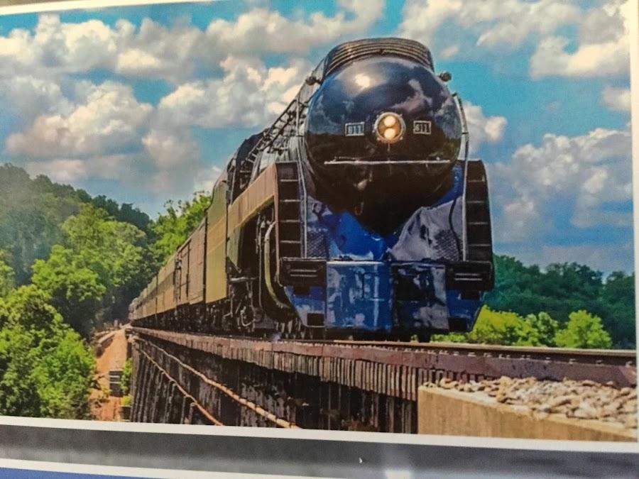 611 Steam Train by Teresa Flowers Wolford - Transportation Trains ( amazing, steam engine, roanoke va, beautiful, transportation, trains )