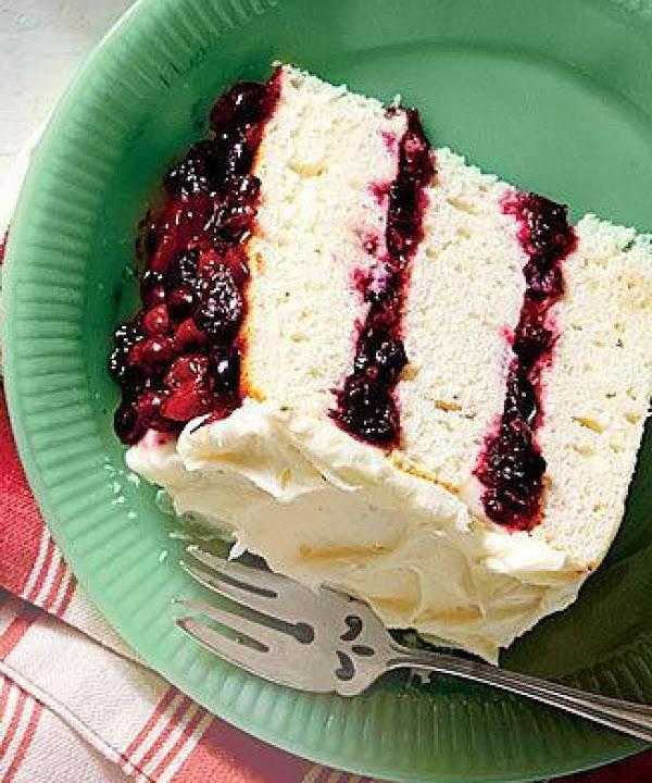 White Cake/cranberry Filling & Orange Buttercream Recipe