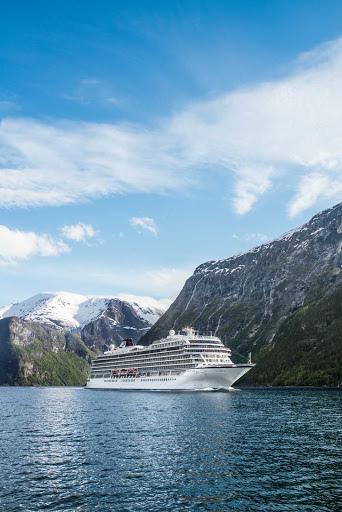 Viking-Star-along-Norway-coast - Viking Star in Flam, a village along a scenic 18-mile fjord in Norway.