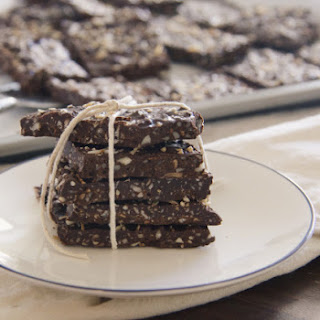 Salted Chocolate Bark With Toasted Coconut And Macadamias