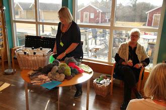 Photo: Birgitta Engardt höll kurs om det gotländska även under söndagen.