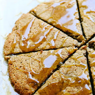 Spicy Banana Scones With Caramel Glaze