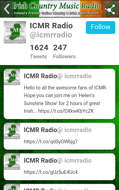 ICMR Irish Country Music Radio- screenshot