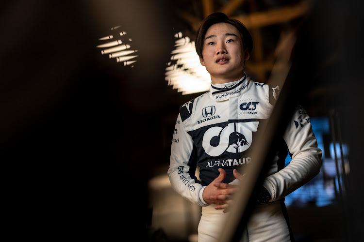 Yuki Tsunoda of Japan seen during the Suderia AlphaTauri AT02 Livery Reveal 2021 - Fashion meets Formula 1 in Salzburg, Austria on February 15 2021.