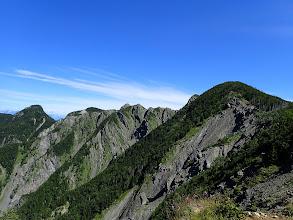 大日影山(右)、小日影山(左)