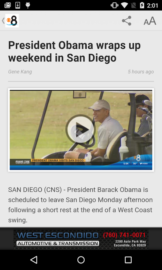 CBS 8 San Diego News- screenshot