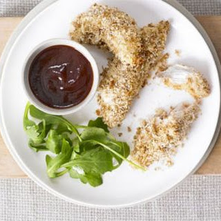 Real chicken nuggets with smoky BBQ sauce