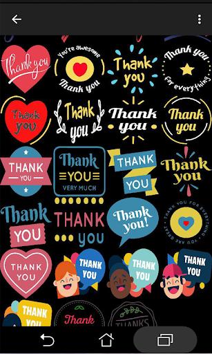 Thank You Stickers HD 1.0 screenshots 7