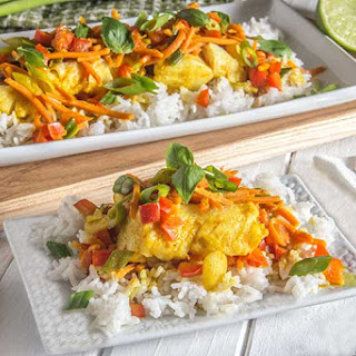 Coconut Curry White Fish.