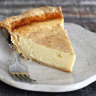 Classic Custard Pie with Nutmeg.
