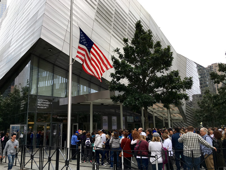 The lines in front of the 9/11 Museum.