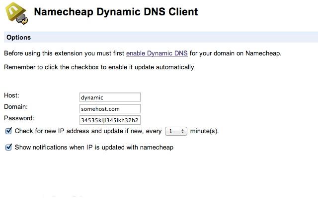 Namecheap Dynamic DNS Client