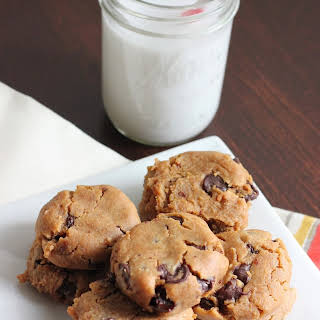 Gooey Peanut Butter Chocolate Chip Chickpea Cookies.