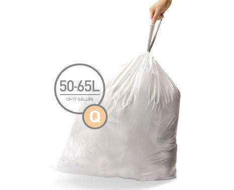 Avfallspåsar till Simplehuman 3 x pack med 20 påsar(60-påsar)  TYP Q
