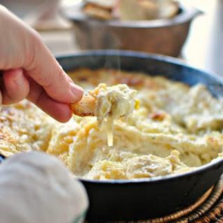 Baked White Cheddar + Leek Dip