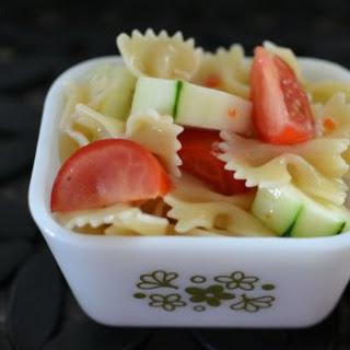 Cucumber and Tomato Bowtie Pasta Salad