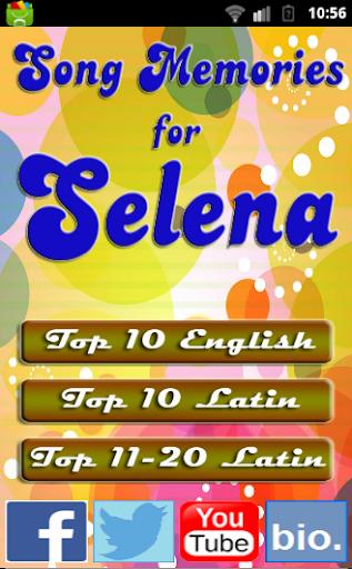 Song Memories for SELENA LATIN