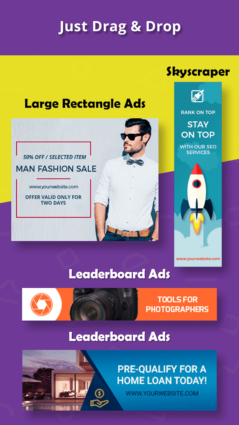 Banner Maker, Ad Maker, Web Banners, Graphic Art Screenshot 1
