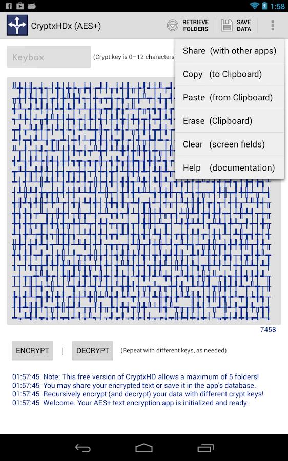 CryptxHDx - AES Encryption- screenshot