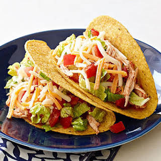 Slow-Cooker Shredded Chicken Tacos.