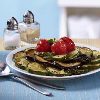 Sautéed Zucchini, Eggplant and Cherry Tomatoes.