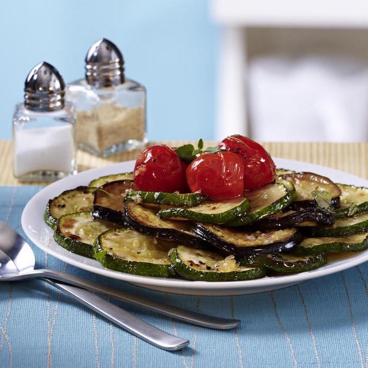 Sautéed Zucchini, Eggplant and Cherry Tomatoes