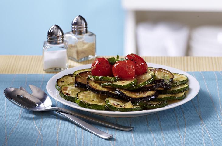 SautéEd Zucchini, Eggplant and Cherry Tomatoes Recipe
