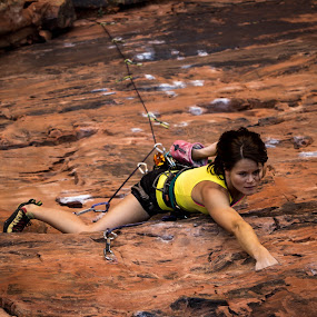 Richness of it All by Ryan Skeers - Sports & Fitness Climbing ( climbing, girls, rock climbing, girls climbing, richness of it all )