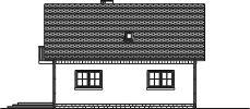 Domek Lipowy szkielet drewniany 020 JK V3 - Elewacja tylna