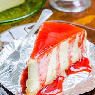 New York Cheesecake With Strawberry Sauce