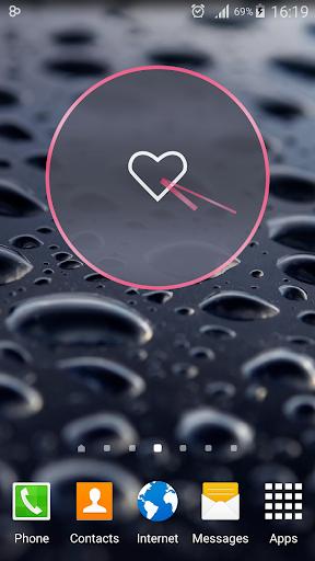 Pink Love Clock Widget
