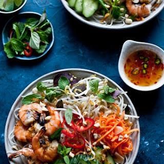 Vietnamese BBQ Shrimp Noodle Bowl (Bun Tom Heo Nuong)