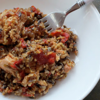 Slow Cooker Chicken & Rice.