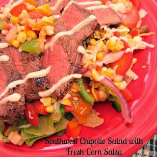 Southwest Chipotle Steak Salad with Fresh Corn Salsa.