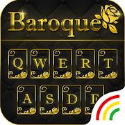 Gold Keyboard Theme - Baroque