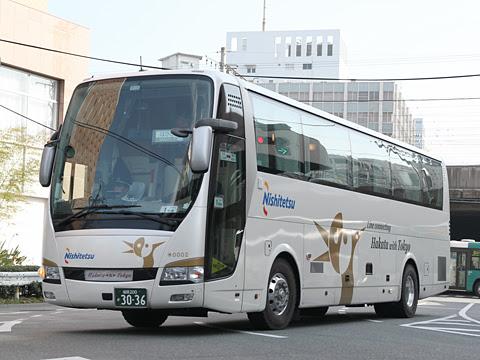 西鉄「はかた号」0002 博多バスターミナル付近にて