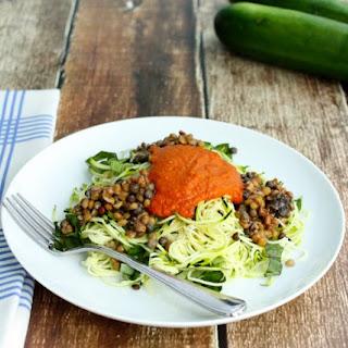 Zucchini Noodle Marinara with Lentils Recipe
