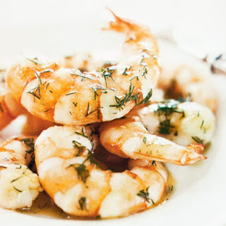 Pan-Fried Shrimp with Dill.
