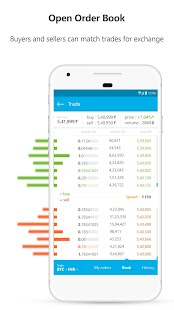 Zebpay Cryptocurrency Exchange Screenshot