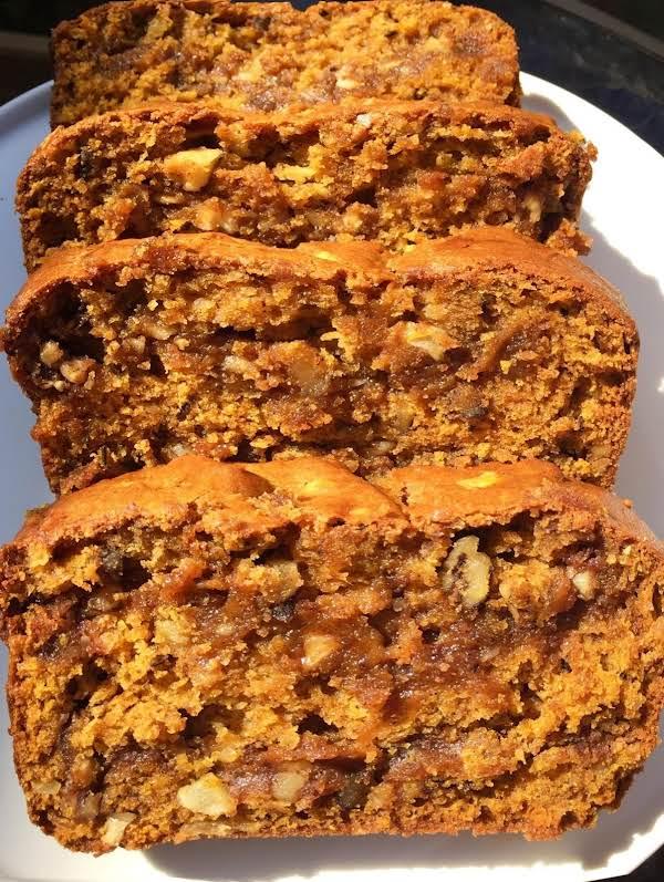 Cinnamon Nut Filled Pumpkin Apple Bread