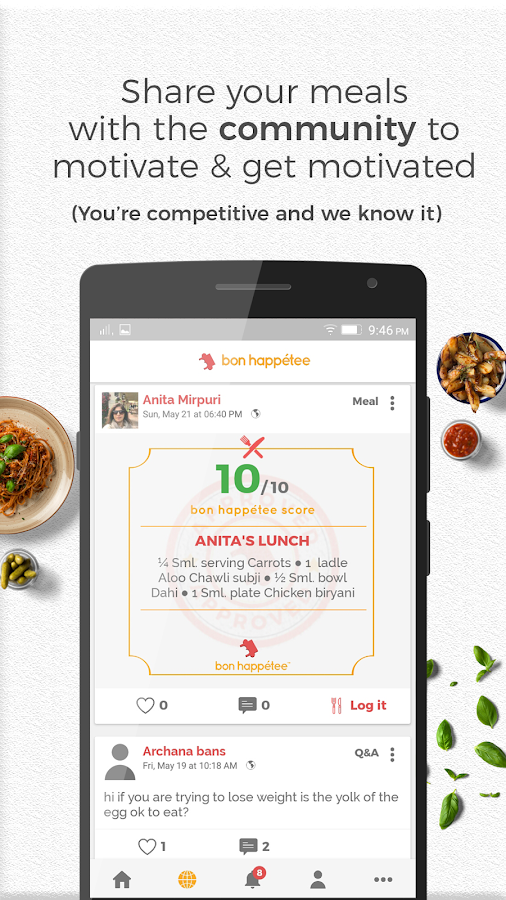 bon happétee - Smart weight loss app- screenshot