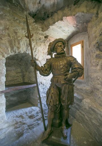 tallinn-statue.jpg - A consquistador statue in the Kiek in de Kök's cannon tower in Tallinn.