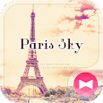Eiffel Tower Theme-Paris sky- icon