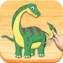 Funny Dinosaurs Kids Puzzles, full game. icon