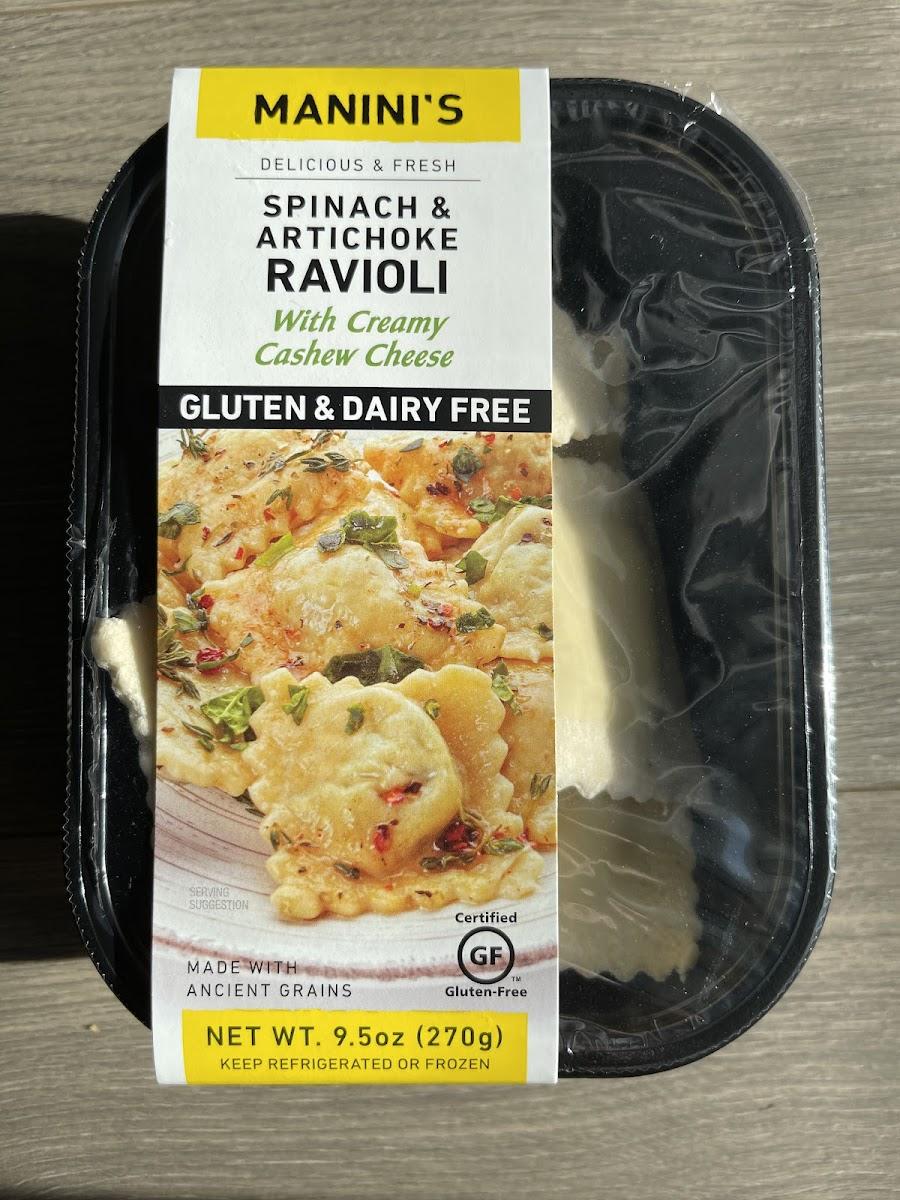 Spinach & Artichoke Ravioli with Creamy Cashew Cheese