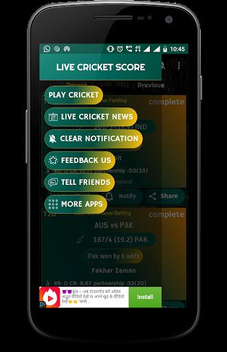 Live Cricket Score 2018 - schedule & Cricket NEWS 5.1 screenshots 2
