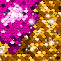 Sequin Flip Live Wallpaper: Glitter Background icon