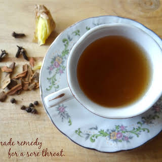 Homemade Remedy For A Sore Throat.